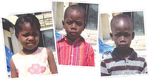 Three Orphaned Children from Haiti Earthquake