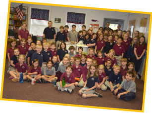 Cherokee Christian School classes donate to RHI.