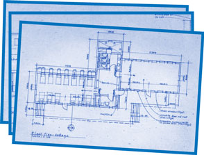 blueprint of cottage