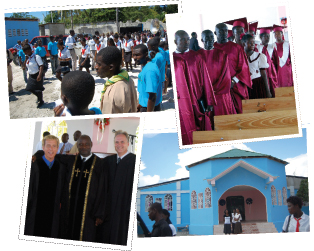 Scenes from the church dedication