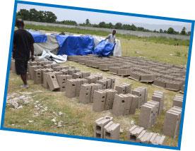 Concrete Blocks Curing