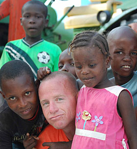 Orphans with a member of the Ag team
