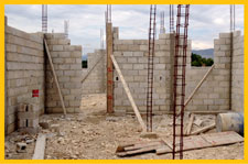 Walls going up on orphanage.