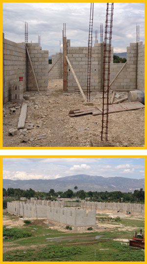 orphanage walls are going up