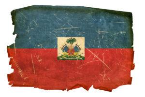 Distressed Haitian flag